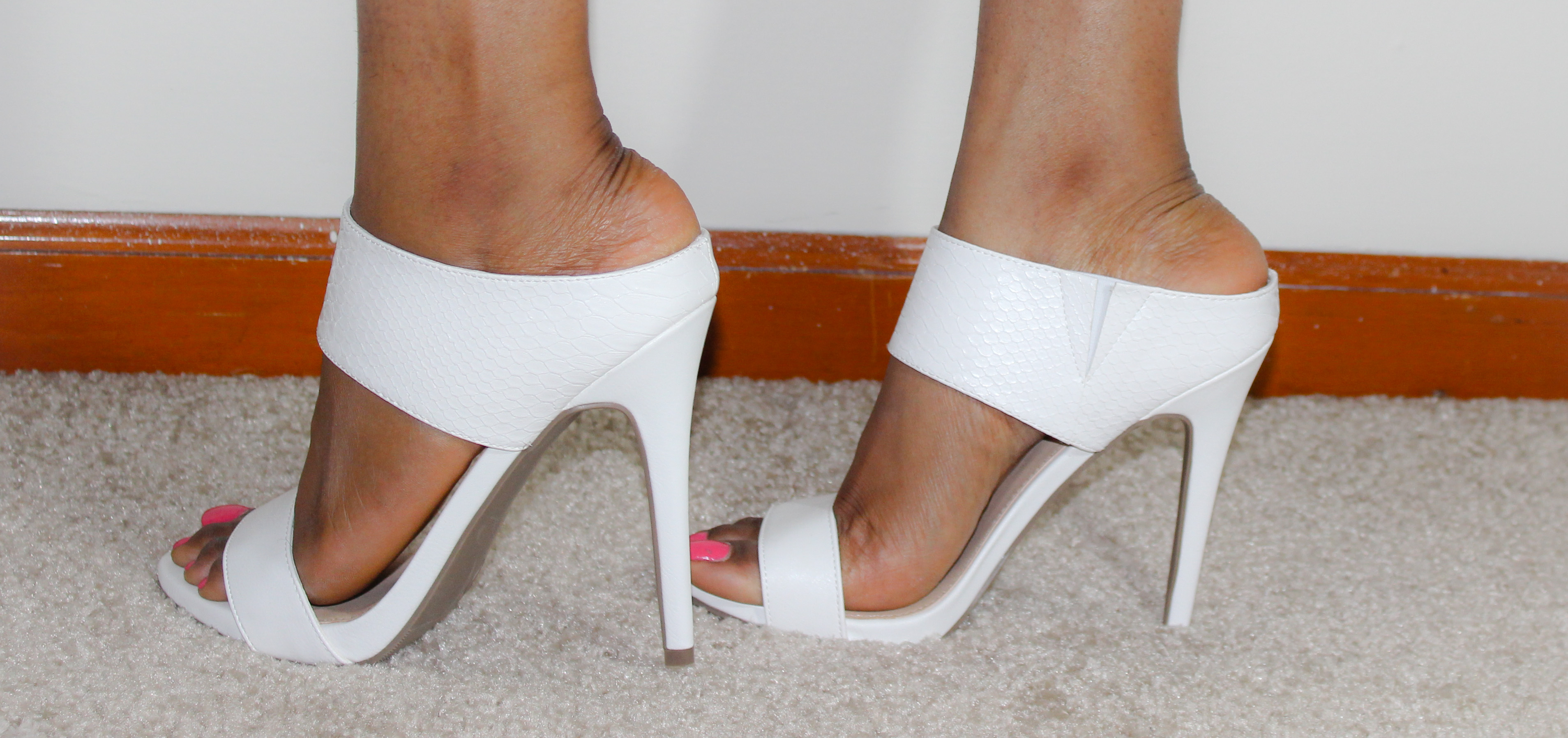 Shoesday Tuesday White Mule Heels Stylediarybyosy